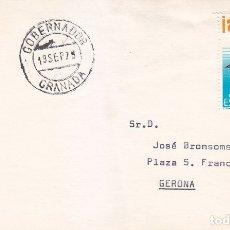 Sellos: GOBERNADOR (GRANADA) MATASELLOS FECHADOR 1979 EN TARJETA CIRCULADA A GERONA. MPM.. Lote 176495287
