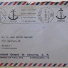 Sellos: ESPAÑA. MATASELLO: VISITEN EL 22 SALÓN NÁUTICO INTERNACIONAL Y SECTOR CARAVANING. 21-29 ENERO 1984.. Lote 176527675