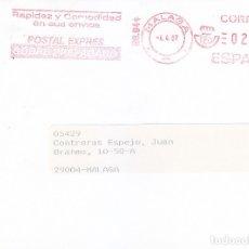 Sellos: FRANQUEO MECANICO 21 PESETAS POSTAL EXPRESS EN CARTA COMERCIAL CIRCULADA MALAGA INTERIOR 1997. MPM.. Lote 176561190
