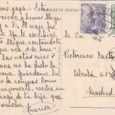Sellos: GENERAL FRANCO DOS EMISIONES EN TARJETA VIANA DO CASTELO CIRCULADA 1949 OVIEDO (ASTURIAS)-MADRID MPM. Lote 176561280