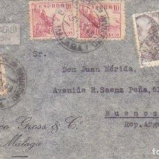 Sellos: ESTACION DE INVIERNO MALAGA MATASELLOS NUM 86 DE GOMIS EN CARTA CIRCULADA 1948 A ARGENTINA. MPM.. Lote 176643199