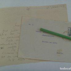 Sellos: CARTA CIRCULADA DE VILLALBA DEL ALCOR ( HUELVA) A MAIRENA DEL ALCOR ( SEVILLA ), 1947. SELLO FRANCO. Lote 177368564