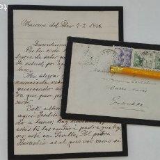 Sellos: CARTA LUTO DE MAIRENA DEL ALCOR ( SEVILLA ) A GRANADA, 1946. SELLOS FRANCO Y CID. CUÑO CAJA AHORROS . Lote 177379917