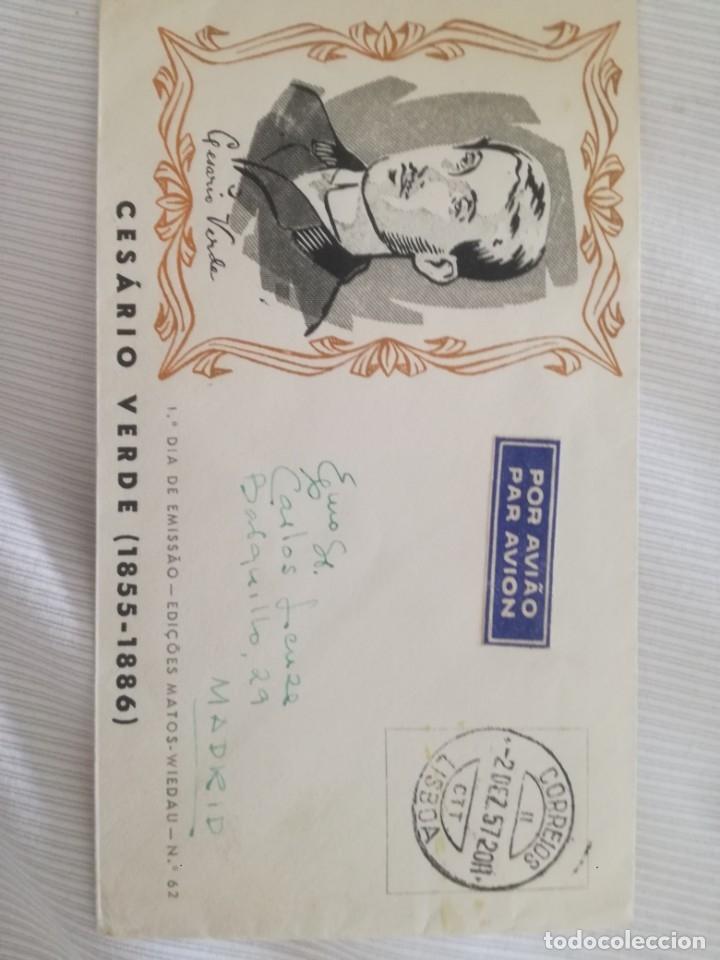 CESARIO VERDE. 1855-1886. (Sellos - Historia Postal - Sello Español - Sobres Circulados)