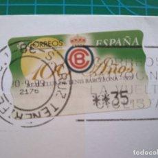 Sellos: ESPAÑA-SANTA CRUZ DE TENERIFE CORREOS VUELTA CICLISTA ESPAÑA 100 AÑOS REAL CLUB TENIS BARCELONA-1999. Lote 177657827