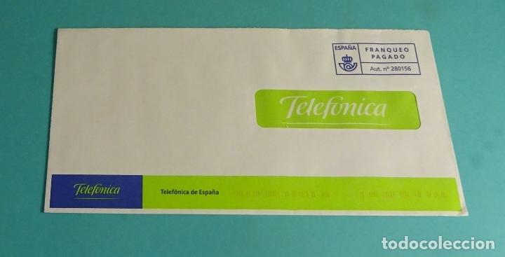 SOBRE FRANQUEO PAGADO. TELEFÓNICA (Sellos - Historia Postal - Sello Español - Sobres Circulados)