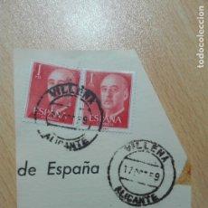 Sellos: MATASELLOS ALICANTE - 1959 VILLENA. Lote 179555565