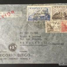 """Sellos: 1949-ESPAÑA SOBRE CORREO AÉREO MADRID-ALEMANIA """"JUAN DE LA CIERVA Y CID"""". Lote 180009827"""