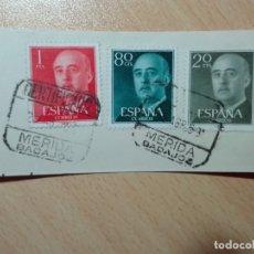 Sellos: MATASELLOS 1959 - MERIDA - BADAJOZ - CERTIFICADO. Lote 180038625