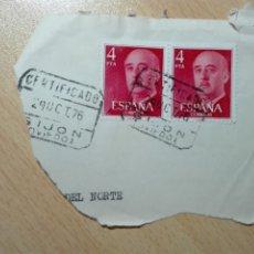 Sellos: MATASELLOS 1976 - GIJON ASTURIAS - CERTIFICADO. Lote 180040788