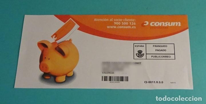 SOBRE FRANQUEO PAGADO. CONSUM. PUBLICORREO (Sellos - Historia Postal - Sello Español - Sobres Circulados)