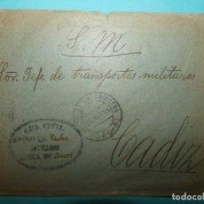 Sellos: CARTA CIRCULADA DEL SERVICIO MILITAR CON FRANQUICIA GUARDIA CIVIL DE ARCOS DE LA FRONTERA CADIZ 1915. Lote 182165801