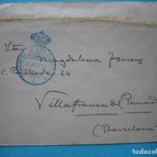 Sellos: CARTA FRANQUICIA CONGRESO DE LOS DIPUTADOS 25 MAY 1917 CON MATASELLO LLEGADA VILLAFRANCA DEL PANADES. Lote 182214977