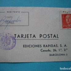Sellos: TARJETA COMERCIAL - MARCA ADMINISTRACION DE CORREOS CAMPRODON (GERONA) - AÑO 1969. Lote 182216476