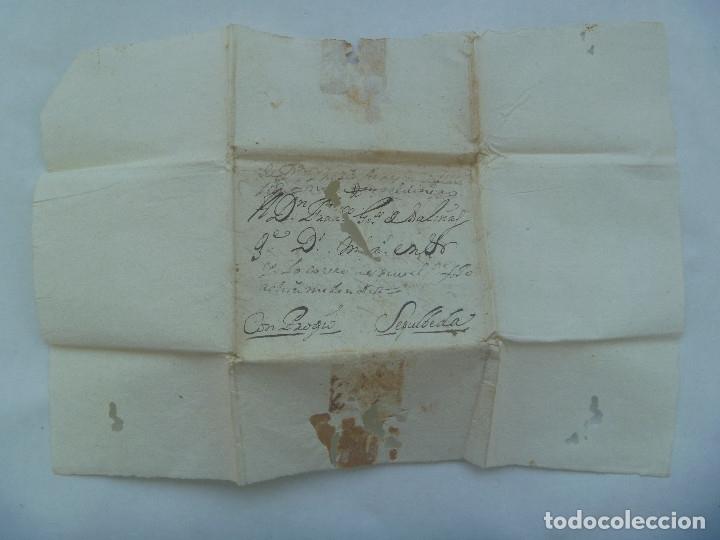 CARTA MANUSCRITA ESCRITA EN SEPULVEDA EN 1730 CIRCULADA A VALLADOLID, SIGLO XVIII (Sellos - Historia Postal - Sello Español - Sobres Circulados)