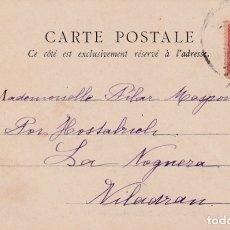 Sellos: CIRCA 1900 REY ALFONSO XIII PELON EN RARA TARJETA POSTAL PINTURA CIRCULADA BARCELONA-VILADRAU GERONA. Lote 26752917