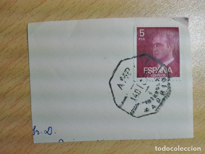 MATASELLOS AMBULANTE 1977 - SANTANDER MADRID - TREN FERROCARRIL (Sellos - Historia Postal - Sello Español - Sobres Circulados)