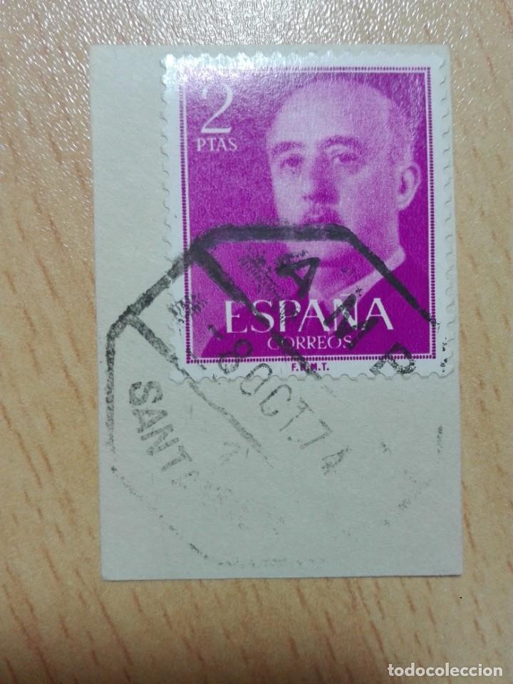 MATASELLOS AMBULANTE 1974 - SANTANDER - TREN FERROCARRIL (Sellos - Historia Postal - Sello Español - Sobres Circulados)