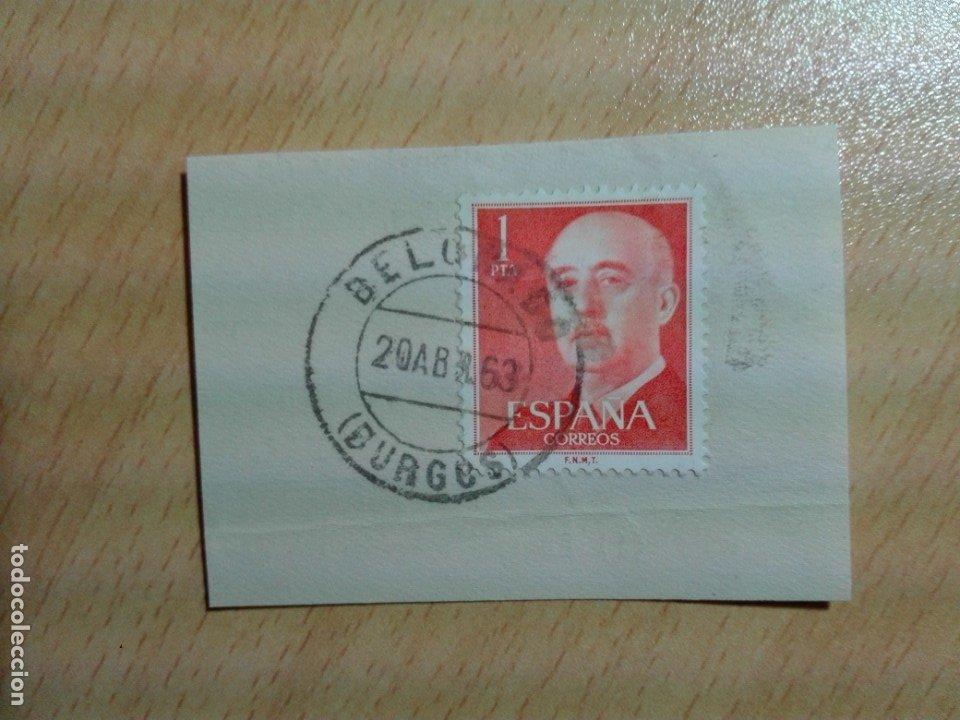 MATASELLOS 1963 - BELORADO BURGOS (Sellos - Historia Postal - Sello Español - Sobres Circulados)