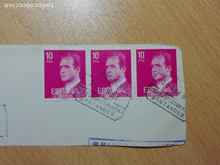 MATASELLOS 1982 - LOS CORRALES DE BUELNA / SANTANDER CANTABRIA - CERTIFICADO (Sellos - Historia Postal - Sello Español - Sobres Circulados)