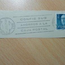 Sellos: MATASELLOS DE RODILLO 1975 - PLASENCIA CACERES - ... CAJA POSTAL. Lote 183028555