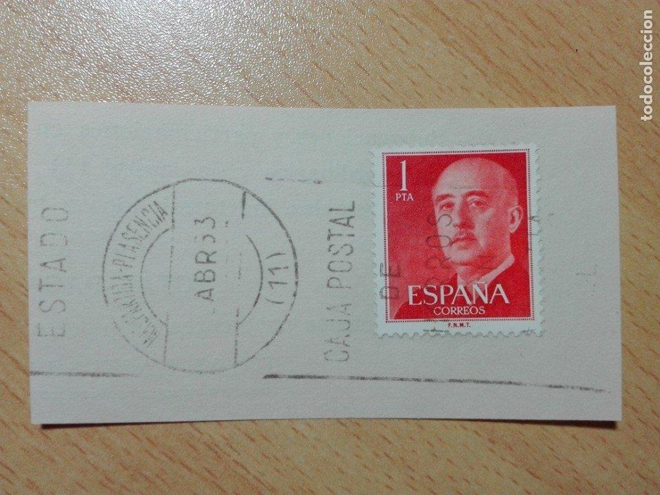 MATASELLOS DE RODILLO 1963 - MALPARTIDA DE PLASENCIA / CACERES - CAJA POSTAL ... (Sellos - Historia Postal - Sello Español - Sobres Circulados)