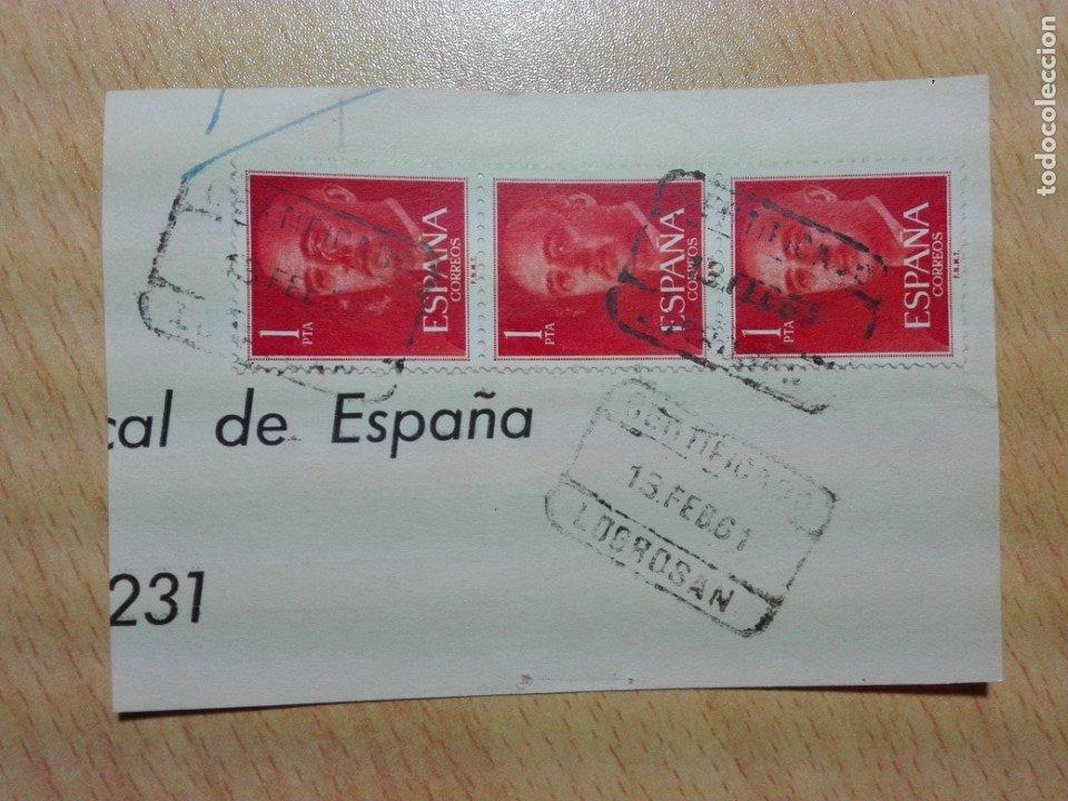 MATASELLOS 1961 - LOGROSAN CACERES - CERTIFICADO (Sellos - Historia Postal - Sello Español - Sobres Circulados)