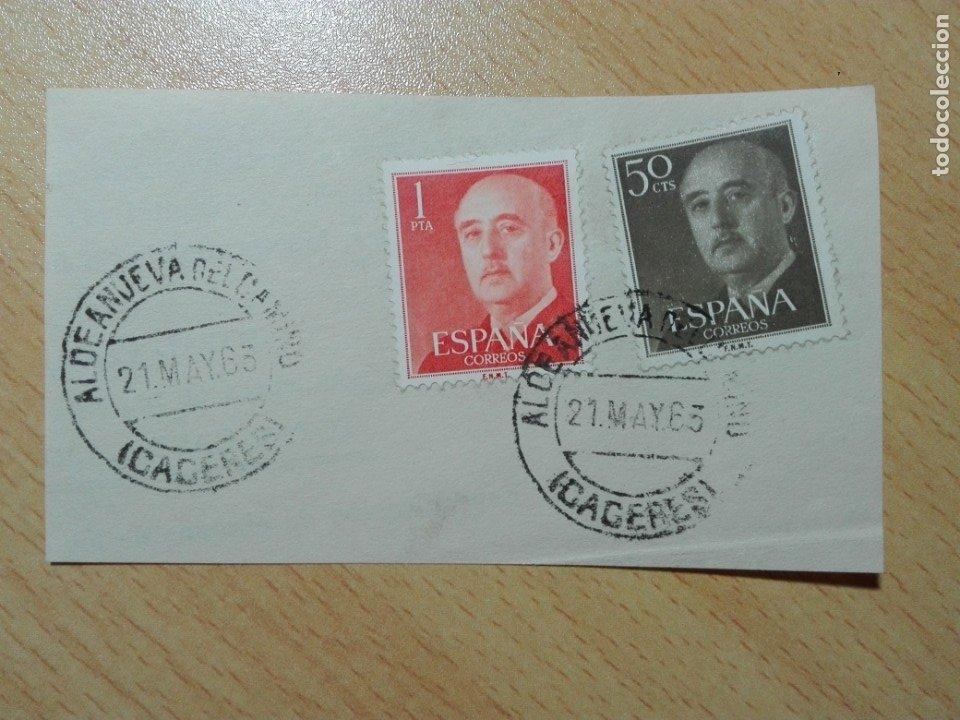 MATASELLOS 1963 - ALDEANUEVA DEL CAMINO / CACERES (Sellos - Historia Postal - Sello Español - Sobres Circulados)