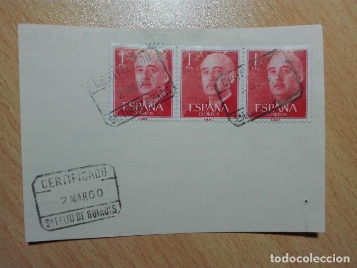 MATASELLOS 1960 - SAN FELIU DE GUIXOLS / GERONA GIRONA - CERTIFICADO (Sellos - Historia Postal - Sello Español - Sobres Circulados)