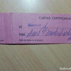 Sellos: ETIQUETA SACA - CUENCA 1980 - MATASELLOS CERTIFICADO Y LINEAL. Lote 183039901