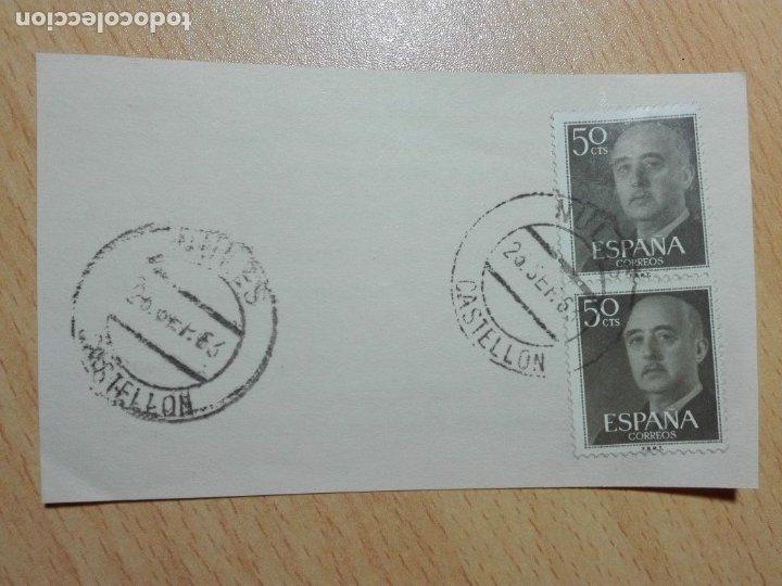 MATASELLOS 1963 - NULES CASTELLON (Sellos - Historia Postal - Sello Español - Sobres Circulados)
