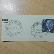 Sellos: MATASELLOS 1963 - VILLAFRANCA DE ORIA / GUIPUZCOA GIPUZKOA. Lote 183041025