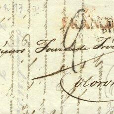 Sellos: ESPAÑA. ARAGÓN. PREFILATELIA. SOBRE . 1835. ZARAGOZA A OLORON. MARCA Zª / FRANCO, EN ROJO (P.E. 28). Lote 183104221