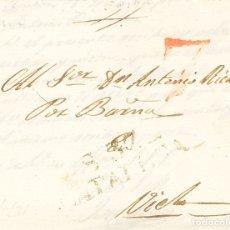 Sellos: ESPAÑA. CATALUÑA. PREFILATELIA. SOBRE . 1834. SOLSONA A VIELLA. MARCA S. 37 / CATALUÑA (P.E.4) EDIC. Lote 193781665