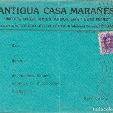 Sellos: ESPAÑA. MARRUECOS. MARRUECOS. TETUAN / PROTECTORADO ESPAÑOL, AL DORSO LLEGADA. MAGNIFICO. REF: 3032. Lote 183117612