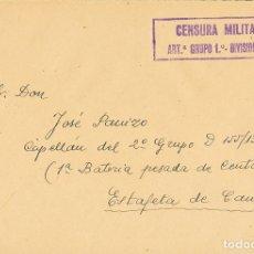 Sellos: ESPAÑA. GUERRA CIVIL. CENSURA MILITAR BANDO NACIONAL. GUERRA CIVIL. CENSURA MILITAR BANDO NACIONAL.. Lote 183119387