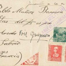 Sellos: ESPAÑA. ANDALUCÍA. HISTORIA POSTAL. ANDALUCÍA. HISTORIA POSTAL. CENSURA MILITAR / VILLANUEVA DE LAS. Lote 183119492