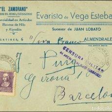 Sellos: ESPAÑA. EXTREMADURA. HISTORIA POSTAL. EXTREMADURA. HISTORIA POSTAL. CENSURA MILITAR / ALMENDRALEJO.. Lote 183120157