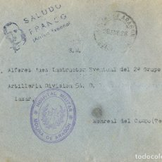 Sellos: ESPAÑA. GUERRA CIVIL. BANDO NACIONAL. SOBRE . 1938. MOLINA DE ARAGON A MONREAL DEL CAMPO. MARCA HOS. Lote 183137937