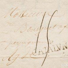 Sellos: ESPAÑA. CATALUÑA. PREFILATELIA. SOBRE . 1799. SAN FELIU DE GUIXOLS (GERONA) A AGDE (FRANCIA). MARCA. Lote 183149275