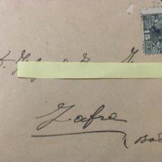 Sellos: ANTIGUA SOBRE CON DESTINO A ZAFRA ( BADAJOZ ) Y CON CARTA EN SU INTERIOR. Lote 183887580