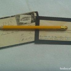 Sellos: PEQUEÑO SOBRE Y TARJETA, CIRCULADO DE CAPITAN DE ARTILLERIA A OTRO CAPITAN EN MERIDA , 1957. Lote 184035605