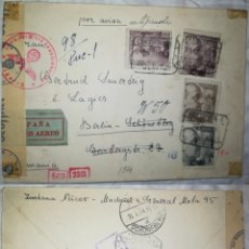 Sellos: ESPAÑA 1943 CARTA CON DESTINO ALEMANIA CON CENSURA Y MARCAS ESPAÑOLAS Y ALEMANAS. Lote 186244486