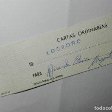 Sellos: ETIQUETA SACA - LOGROÑO - MATASELLOS Y LINEAL - LA RIOJA. Lote 187129357