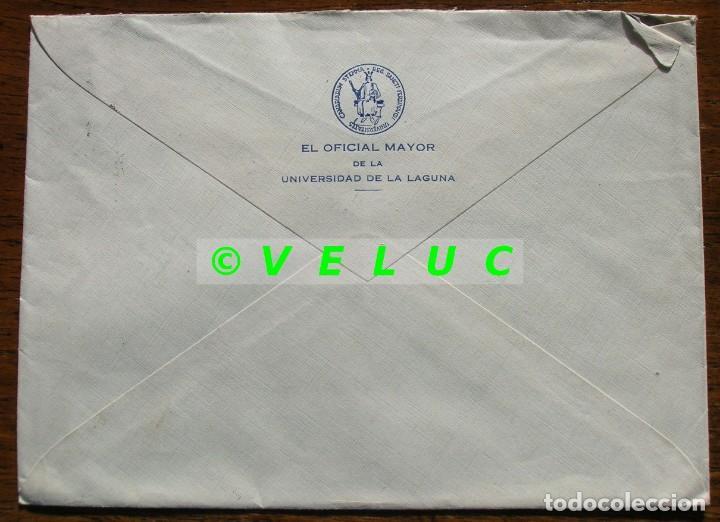 Sellos: SOBRE CIRCULADO UNIVERSIDAD DE LA LAGUNA AVILES 1952. SELLOS 1048, 1045 Y 1022 - Foto 2 - 187201658