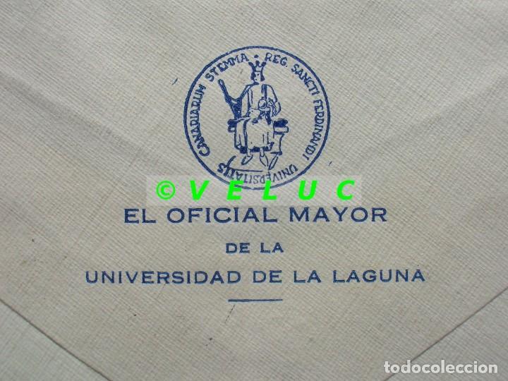 Sellos: SOBRE CIRCULADO UNIVERSIDAD DE LA LAGUNA AVILES 1952. SELLOS 1048, 1045 Y 1022 - Foto 4 - 187201658