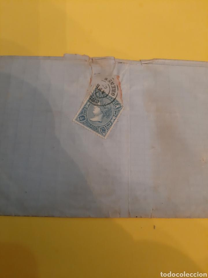 Sellos: Orense Celanova 1865 edifil 88 cuatro cuartos Prefilatelia - Foto 2 - 190801186