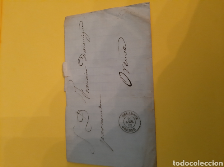 ORENSE CELANOVA 1865 EDIFIL 88 CUATRO CUARTOS PREFILATELIA (Sellos - Historia Postal - Sello Español - Sobres Circulados)