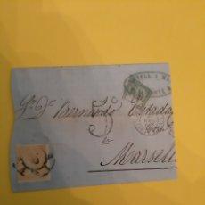 Sellos: ALICANTE NOVELL ISABELL II EDIFIL 89 12 CUARTOS MASELLA FRANCIA. Lote 190801752