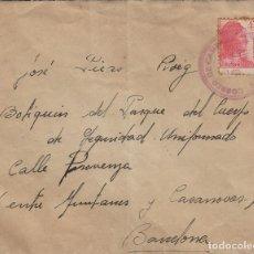 Sellos: SOBRE DE CARTA CORREO DE CAMPAÑA RECIBIDA 1938 DEST BOTIQUÍN , BARCELONA. Lote 190985656